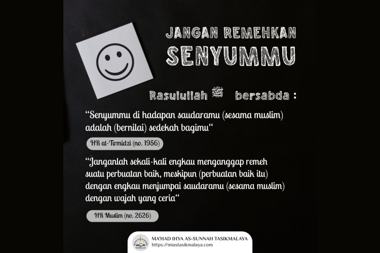 Jangan Remehkan Senyummu