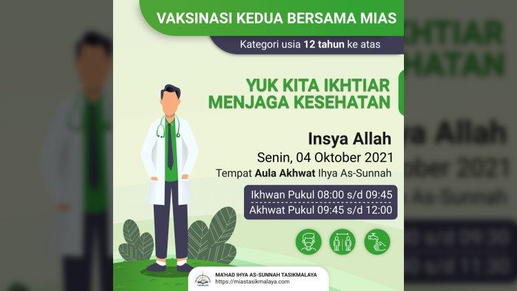 Vaksinasi Kedua Bersama KODIM 0612 Tasikmalaya